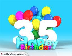 geburtstagsspr che 35 35 geburtstag bild happy birthday mit ballons