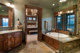 Houzz Rustic Bathrooms - split doors bathroom ideas houzz