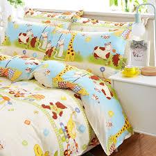 Giraffe Bed Set Like Cotton Giraffe Printed Bedding Sets King