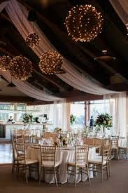 Colourful Ribbon Canopy Wedding Reception by Wedding Reception Tulle And Lights In Our Church Gym It Was Even
