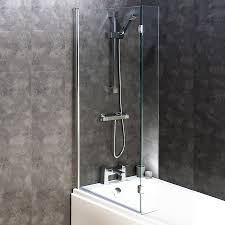 bath screen with flipper panel