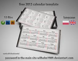 free business card calendar template ai psd cdr by wilhelm1989 on