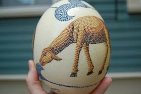 painted ostrich eggs wunderful things painted ostrich egg