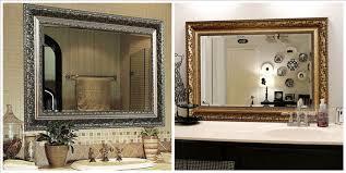 Mirror Bathrooms Decorative Mirrors For Bathrooms Wall Mirrors For Bathroom