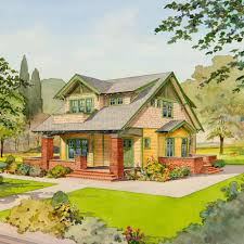 the bungalow company the zinnia exterior drawing this