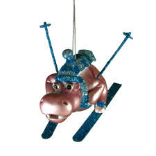 skiing hippo ornament msc 563 9 95 hippo mojo gifts and