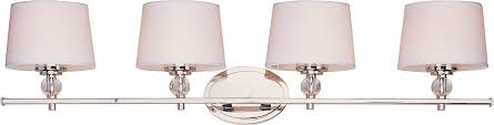 maxim lighting 12764wtpn rondo 4 light bath vanity polished