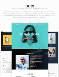 Best Personal Resume Websites by Tapien Cv Resume Personal And Portfolio Muse Template By
