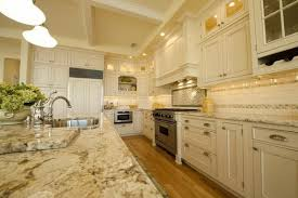 Backsplash With Granite Countertops by Contemporary Kitchen Coffered Ceiling Subway Tile Backsplash