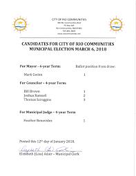 2018 city election city of rio communities new mexico