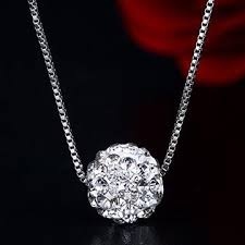 silver crystal ball necklace images China silver necklace from shenzhen wholesaler interstellar jpg