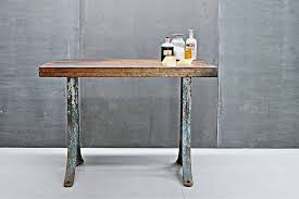 Industrial Work Table by Fifties Wagner Danish Modern Teak Dining Table