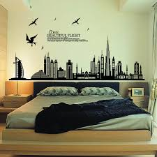 removable wall sticker city silhouette buildings art decals mural removable wall sticker city silhouette buildings art decals mural diy wallpaper for room decal home decoration decorative stickers walls