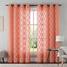 Coral Sheer Curtains Buy Coral Curtain Panels From Bed Bath Beyond