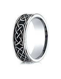 celtic knot wedding bands dundee cobalt celtic knot wedding band for men by benchmark