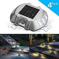 Solar Dock Lighting by Amazon Com Deck Lights Solmore 2 Pack Led Solar Dock Path Road