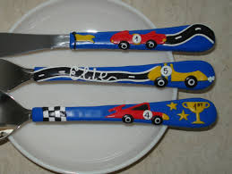 childrens kitchen knives personalized childrens cutlery set colored utensils polymer clay