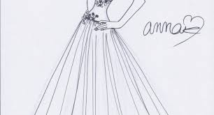simple fashion design sketches of dresses fashion designing