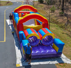 33 u0027 obstacle course with slide inflatable obstacle bounce maze