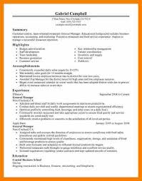 Restaurant Owner Resume Sample by Restaurant General Manager Cv Job Resumegeneral Manager Resume