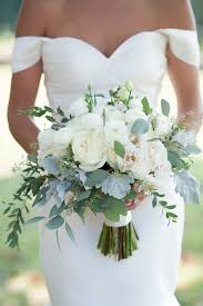 Pictures Flower Bouquets - white ranunculus and eucalyptus bouquet dragonfly events