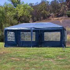 10 X 20 Shade Canopy by 10x20 Party Tent W 4 Wall Blue Onebigoutlet Com