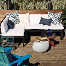pebble outdoor coffee table sensualy pebble side table for outdoor use shelterness