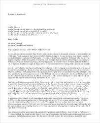sample generic letter of recommendation 7 examples in word pdf