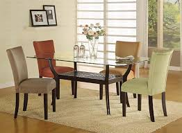 Glass Top Dining Room Table Sets Magnificent Glass Topped Dining Table And Chairs Glass Top Dining