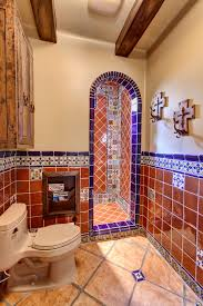 Mexican Kitchen Cabinets Mexican Tile Kitchen Mediterranean With Lima Blue Cabinets