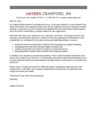 resume cover letter exles for nurses best intensive care cover letter exles livecareer