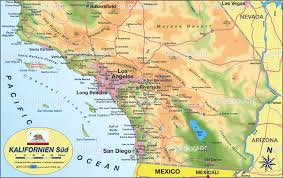 Map Of California And Arizona by Oceanside California Map