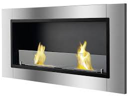 amazon com ignis lata recessed ventless ethanol fireplace with