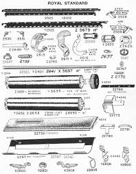 typewriter parts royal standard u0026 electric ames supply general