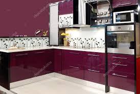 küche lila küche stockfoto 4494910