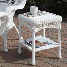 Patio Side Table Coral Coast Casco Bay Resin Wicker Side Table Hayneedle