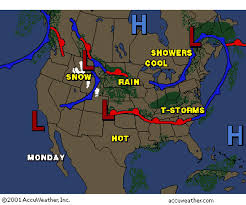 weather fronts map depressions fronts june42001 gif