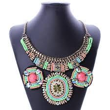 ethnic necklace vintage images Acrylic beads bohemian necklace boho maxi statement necklace big jpg