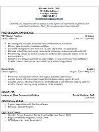 dental resume template dentist resume sle dental assistant resume sle best of 8