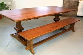 Handcrafted Wood Tables Reclaimed Wood Trestle Dining Table Classic Wooden Trestle