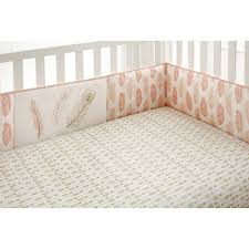Boho Crib Bedding by Babies R Us Exclusive The Little Feather Coral Crib Bumper Is A