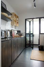 Bto Kitchen Design Senja Road 4 Room Bto Industrial Kitchen Singapore By Omus