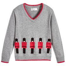 boys sweater boys grey soldier sweater childrensalon