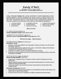 Best Resume Format For Teachers by Preschool Teacher Resume Objective Best Resume Collection