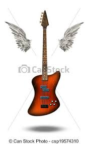 base guitar with wings clipart search illustration drawings and