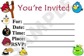 angry birds printable party invitation angry birds mérges