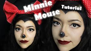 mouse makeup halloween minnie mouse glam halloween makeup tutorial youtube