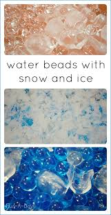 winter sensory activities with water beads