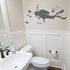 halloween wall stickers scuba diver wall decals