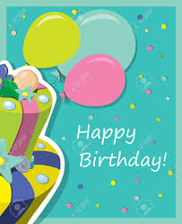 birthday cake greeting card royalty free cliparts vectors and